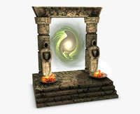 portal gate 3d max