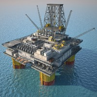 3d model oil platforms