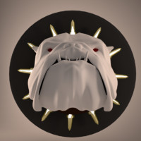 english bulldog head 3d obj