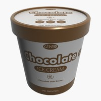 ice cream pot chocolate 3d model