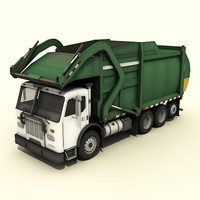Garbage Truck (low poly)