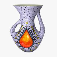 3d vintage ceramic vase model