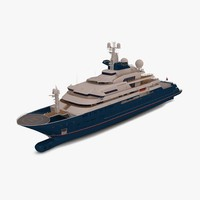 3d octopus yacht modeled model