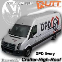 volkswagen crafter van dpd 3d max