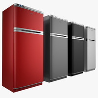 3ds max refrigerator red