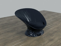 3d model scoop plastic chair melted