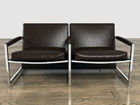 3d modern stylish leather twin model