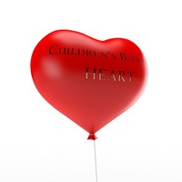 children s balloon heart 3d model