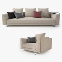 busnelli burton sofa 3d max