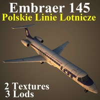 3d embraer lot model
