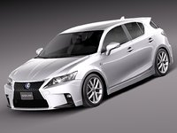 2014 lexus ct 3d model
