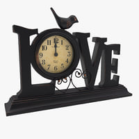 maya table clock love