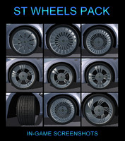 3ds car wheel pack