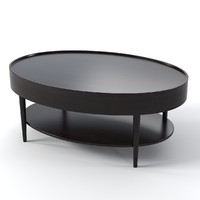 Schnadig 3901-540 Oval Coffee Side Table