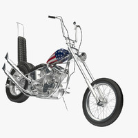 easy rider motorcycle 3d model