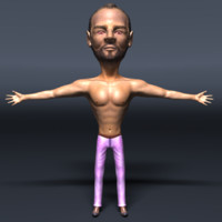 3d male human man model