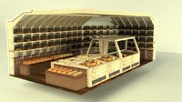 3ds max bakery supermarket display