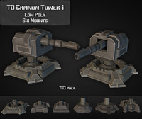 3d td cannon tower 01 model