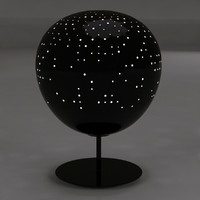 sphere lamp 3d obj
