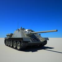 3d soviet su-85 model