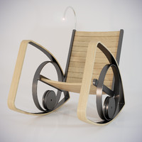 3d shawn rocking chair model