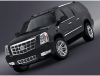 3d cadillac escalade esv model