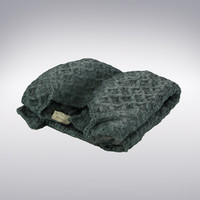 Sweater Knitted Green Folded - 3D Scanned