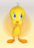 tweety bird 3d model
