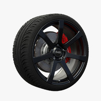 advanti raptor wheel 3d fbx