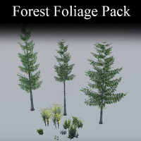 Video Game Forest Foliage Pack