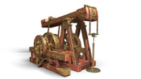 3d oil rocking machine model