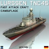 lurssen tnc 45 camouflage 3d model