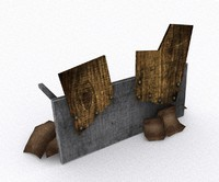 table barricade 3d model