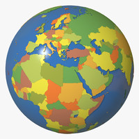 3d model geopolitical globe earth