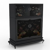3ds max antique japanese cabinet