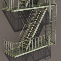3d escape stairs
