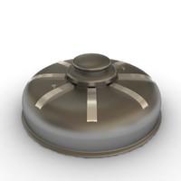 3d model mines bomb