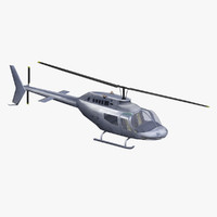 3d bell 206 jetranger model