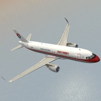 3ds max sharkleted a320neo china eastern airlines