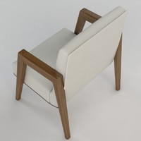 3d model russel wright arm chairs
