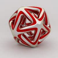 3dsmax interlinked star ball isocahedron
