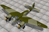 german bomber junkers 3d model