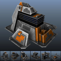 3d real time sci-fi building