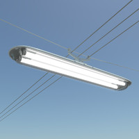 rectangular street lamp 3d model