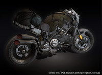 post apocalyptic motorcycle 3d max