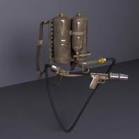 m2 flamethrower 2 3d model