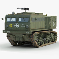 military m4 highspeed tractor 3d max