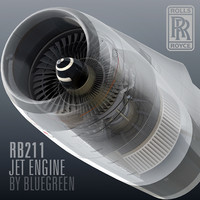 3d rb211 jet engine
