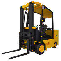 forklift fork lift 3d model