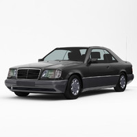 3d model mercedes-benz e-class w124 coupe